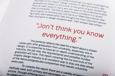Don't Think You Know Everything by Craig Palmer, via Behance