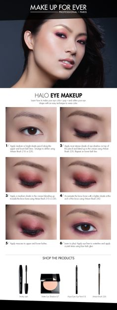 Halo Eye Makeup #HowTo courtesy of #Makeupforever #Sephora #makeuptutorial