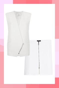12 Badass Suits That Work For EVERY Type Of Office #refinery29  http://www.refinery29.com/mix-and-match-suits#slide8  Here's where things get a little interesting: On its own, this vest and miniskirt pairing is pretty limited to those in creative fields. But, by adding a turtleneck and tights, you've got a co-ord that's cool and office appropriate.