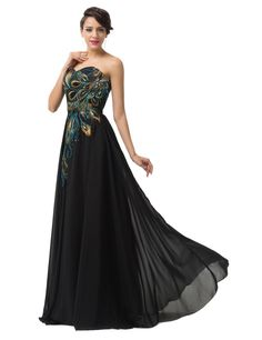 59c9da8ed23 Amazon.com  Grace Karin Long Strapless Embroidery Prom Dress A-Line CL6168  (Multi-Colored)  Clothing