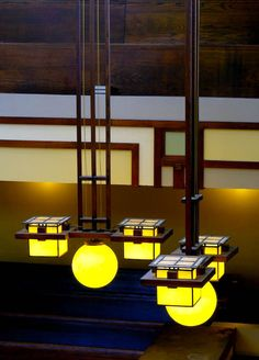 Detail of Frank Lloyd Wright's lighting at Unity Temple.