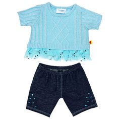 Aqua Sweater & Jegging Outfit 2 pc. - Build-A-Bear Workshop US