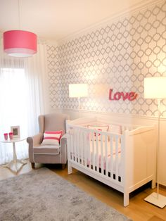 Traditional Gray and Pink Nursery - Project Nursery