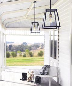 Southampton 1 Light Large Exterior Pendant in Antique Black | Outdoor House Lighting | Outdoor Lighting | Lighting