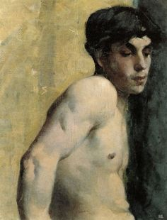 "Helene Schjerfbeck ""Study of a youth,"" 1882 Finland Helene Schjerfbeck, Painting People, Figure Painting, Renoir, Female Painters, Beauty In Art, Canadian Art, Gay Art, Life Drawing"