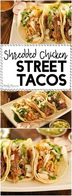 Ooooh, this recipe for Shredded Chicken Street Tacos is so yummy sounding. I love it. And it's gluten-free and dairy-free. Nice!