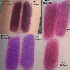 Love the comparisons! One of my fave swatchers💁🏼 Mac Lipstick Dupes, Lipsticks, Lip Makeup, Makeup Tips, Beauty Bible, Make Up Dupes, Makeup Course, Beauty Corner, Lip Tar