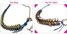 DIY Designer bracelets: Giles & Brother braided hex nut bracelet