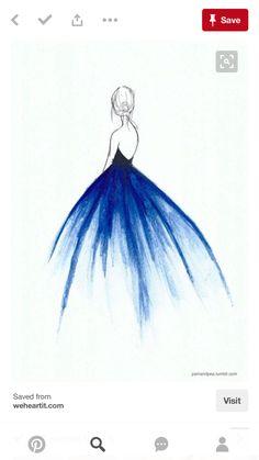 beautiful, drawing, and blue image | DIY | Pinterest ...