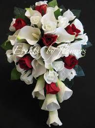 red white black wedding unique fantatic flowers.