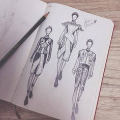 Fashionary sketches from VIkki Yau