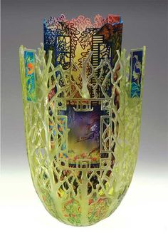 Roots of Heaven, Binh Pho with Ron Gerton, cast glass, bradford pearwood, gold leaf, acrylic paint, 2012. Courtesy of the artist and Marty and Barbara Bosch