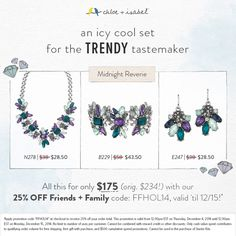 This icy cool set is 25% off with code FFHOL14! chloeandisabel.com/boutique/katclaussen