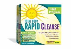 Renew Life Total Body Rapid Cleanse Kit - Free Shipping,  Are You Looking for a Powerfully Effective Total-body Cleanse in Less Time. Fast, effective body cleansing formula Soy free, gluten free, Great 7-day pre diet cleanse 8 grams soluble daily dietary fiber 3-part advanced colon cleanse formula, Designed for fast body cleansing, healthy elimination and bowel health, Natural organ detoxification support  http://www.hmherbs.com/total-body-rapid-cleanse.html