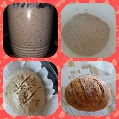 Kváskový chlieb pre začiatočníkov • recept • bonvivani.sk Bakery, Muffin, Food And Drink, Ice Cream, Pudding, Bread, Jaba, Breakfast, Muffins