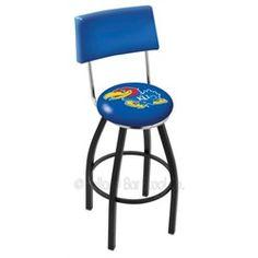 Kansas Jayhawks Swivel Bar Stool with Back