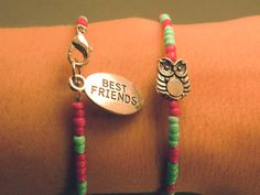 Owl Friendship Bracelets Set of Two by CraftsbyBrittany on Etsy, $9.50