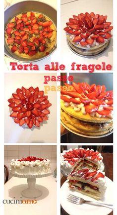 Torta golosa panna, cioccolato e fragole http://cuciniamo.mammeonline.net/torta-golosa-con-panna-e-fragole/