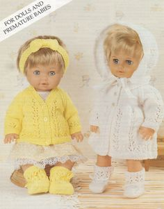 Dolls Clothes PDF Knitting Pattern : 12 - 14 ,  15 - 18 and 19 - 22 inch high Dolly . 4 Ply . Instant Digital Download by PDFKnittingCrochet on Etsy
