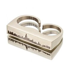 NYC Skyline Cutout Double Ring now featured on Fab.