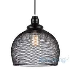 CLA Cheveux Large Sphere Cage Metal Mesh Pendant Light - CHEVEUX4