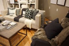 All the neutral and warm colours you need in fall are at Chapters. Loving the black and white pillows.