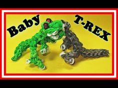 Rainbow Loom Charms: BABY T-REX