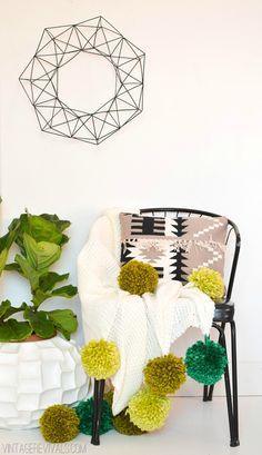 LOVE THIS! How To Make A Giant Pom Poms Tutorial vintagerevivals.com