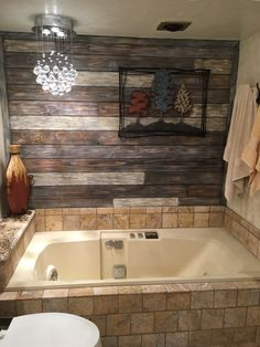 Pallet wall and tile bathroom remodel Gray Shower Tile, Small Bathroom, Bathroom Remodel Tile, Laundry Room Bathroom, Amazing Bathrooms, Floor Remodel, Bathrooms Remodel, Tile Bathroom, Laundry In Bathroom