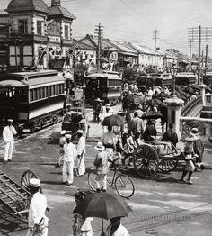 The principal thoroughfare of busy Tokyo, Japan ca. 1905