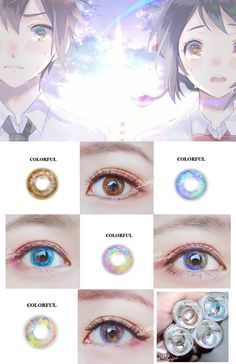 Cool Contacts, Cat Eye Contacts, Colored Eye Contacts, Doll Eye Makeup, Anime Makeup, Cosplay Contacts, Cosplay Makeup, Natural Contact Lenses, Circle Lenses