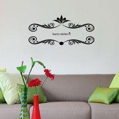 wallsticker tribal leaves Wallpaper interior Design