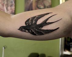1337tattoos — Little swallow  Tattooed by Ruth Barja  ...