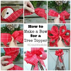 diy tree topper bow christmas christmas crafts christmas decorations christmas decor crafts for christmas decorating for christmas christmas living rooms