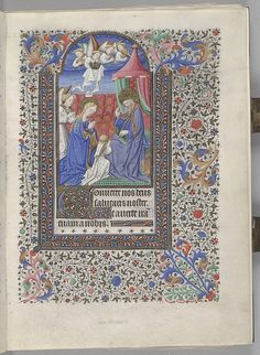 Bedford-style Book of Hours Coronation of the Virgin