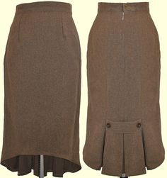 Love the triple kick pleat with buttons.