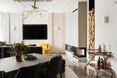 Мужская квартира в Санкт-Петербурге с камином и сауной (125 кв. м) | Пуфик - блог о дизайне интерьера