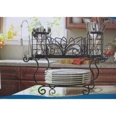 wrought iron buffet picnic caddy server   plates napkins