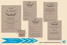 DIY Wedding Invitation Set Template RSVP by 1CreativeMastermind #loverstwig  #lover #twig #wood #kraft #affordable #budgetfriendly #cheapinvitation #cheap #diy #diybride #weddinginvitation #template #editable #instantdownload #digital #wedding #invitation #etsy