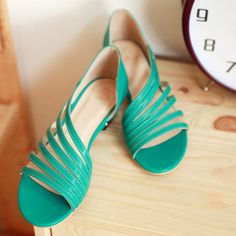 Large Size Peep Toe Wedge Sandals