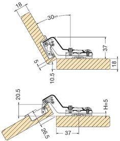 Detalii montaj aplicatie usi 35 grade Bed Back Design, Folding Tables, Furniture Assembly, Clothes Hanger, Hardware, How To Plan, Detail, Kitchen, Wood Furniture