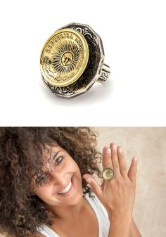 Argentina&Australia ring  Coin Jewelry  Handmade jewelry by NoaTam
