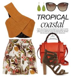 """""""Tropical 3965"""" by boxthoughts ❤ liked on Polyvore featuring River Island, Rosetta Getty, Elena Ghisellini, Linda Farrow and Charlotte Russe"""