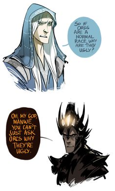 Manwë and Melkor from the talented Phobs. Laughed out loud