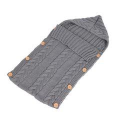 Baby Wool Swaddle Wrap - Warm Crochet Knitted Newborn Sleeping Bag