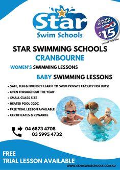 Baby Swimming Lessons, Swim Lessons, Swim School, Learn To Swim, Heated Pool, Schools, Learning, Fun, Kids