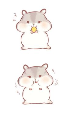 animal, animation, art, cute, drawing, hamster, illustration, kawaii, aki chan, anime