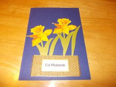 EID GREETINGS CARD, ONE CARD WITH ONE ENVELOPE, A 5 SIZE, HAND-MADE