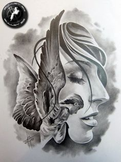 Here is another sketch created by Bullet BG; Tattoo Sketches, Tattoo Drawings, Drawing Sketches, Kunst Tattoos, Neue Tattoos, Tattoo Studio, Flash Art Tattoos, Jesus Tattoo, Angel Drawing