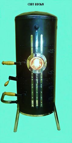 Main waste oil burner tee pee of bolts and rebar waste for Heater that burns used motor oil